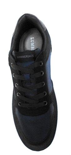 Uomo Lumberjack Scarpe Navyb Pelle Sneakers gqZxRgB