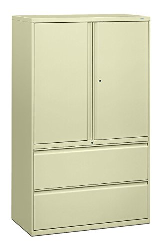 File Letter Vertical Drawer Insulated - HON 895LSL 800 Series 42-Inch Storage Cabinet with 2-Drawer Lateral File, Putty