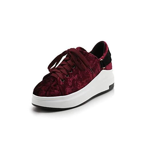 Flat Army Comfort Black Summer Sneakers rojo Mujer De Zhznvx Azul amp; Suede Verde Zapatos Heel Spring xPCTw0zB