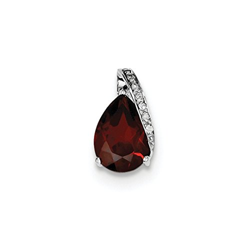 ICE CARATS 925 Sterling Silver Pear Red Garnet Pendant Charm Necklace Gemstone Fine Jewelry Ideal Mothers Day Gifts For Mom Women Gift Set From Heart