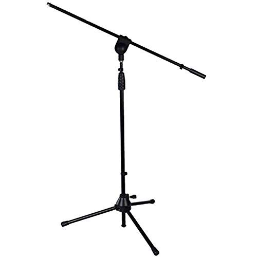 LyxPro Microphone Stand Boom Arm Tilting Rotating Floor Podium Stage or Studio Strong Durable And Foldable Height 38.5''- 66'' Extends Arm to 29 3/8'' Comes With 3/8'' and 5/8'' mount Adapters TMS-1 by LyxPro
