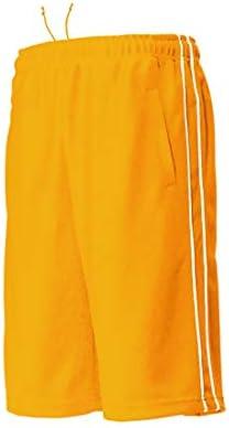 パイピング トレーニング ハーフ パンツ 吸汗 速乾 ジャージ ゴールドオレンジ P2080-55 ゴールドオレンジ