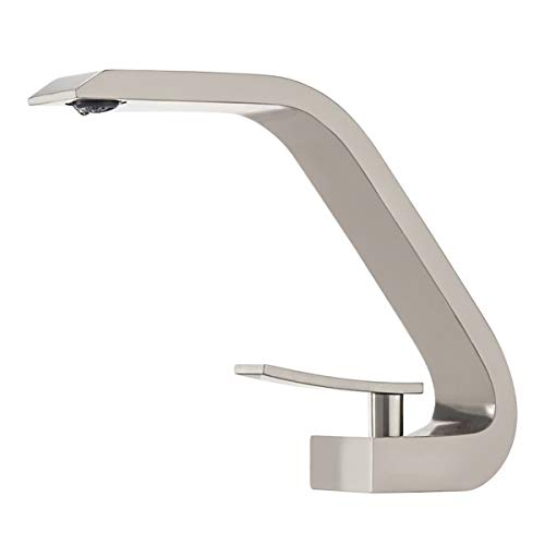 BAKALA Brass Chrome Faucets Single Handle Bathroom Sink Faucet Household Wash Basin Faucets with German Neoper Ultra-thin Water Outlet Nozzle Core ()