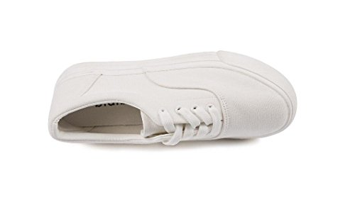 Permeabilidad 39 White Movimiento Señora Ocio 37 Lona WHITE XIE Plano de Zapatos Zapatos Estudiantes Diarias Cómodo Fondo Compras Negro Blanco qExH8nCa