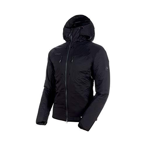 Mammut 1013-00500 Men's Rime in Flex Hooded Jacket, Black/Phantom - S