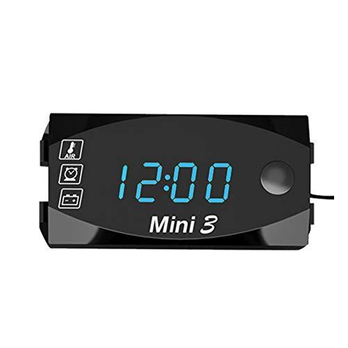 Betteros Motorfiets LED Klok, Motorfiets Elektronische Klok Thermometer Voltmeter Drie-In-Een Digitale Display IP67…