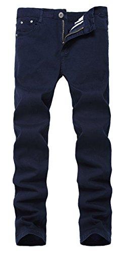 GUNLIRE Boy's Skinny Fit Stretch Jeans Kids Fashion Pants Navy Blue W14