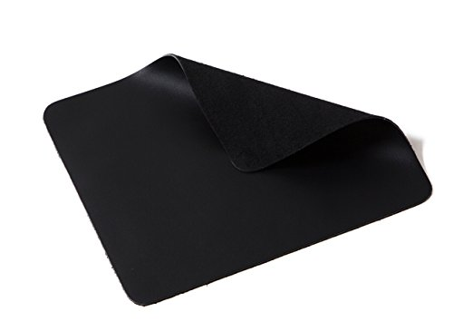 Jima Full Grain Cowhide Leather Mouse Pad, Soft, Hand Comfort, Smooth Movement, Precise Positioning (Black)