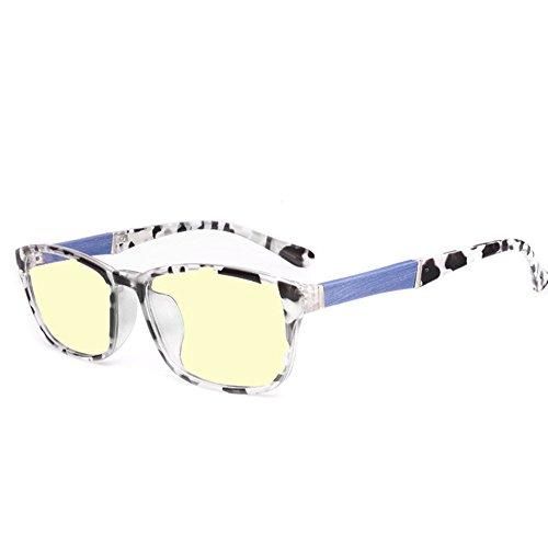 outlet store fe171 f9637 Unisex Lunettes Carré Unisex Goggles Homme Femme Anti Lumière Bleue  Lunettes à Verres Transparents Mode à
