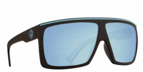 Dragon Fame Sunglasses Matte Blue Frame w/ Sky Blue Ion - Sunglasses Ion