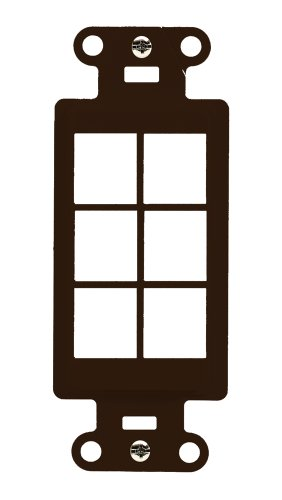 Legrand - On-Q WP3416BR 6Port Decorator Outlet Strap, ()