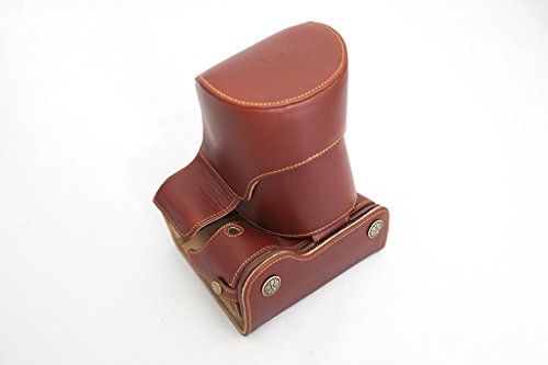Handmade Genuine real Leather Full Camera Case bag cover for Sony A7 Sony A7R Sony A7S 28-70mm,FE 55mm/F1.8 and 35mm lens Bottom opening Version Brown color