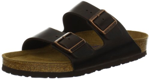 Birkenstock Unisex Arizona Brown Amalfi Leather Sandals - 41 N EU/10-10.5 2A(N) US Women/8-8.5 2A(N) US Men