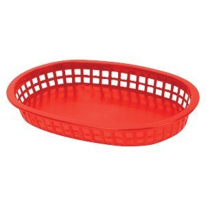 Update International (BB107R) Oval Fast Food Baskets [Set of 12] by Update International (Image #2)