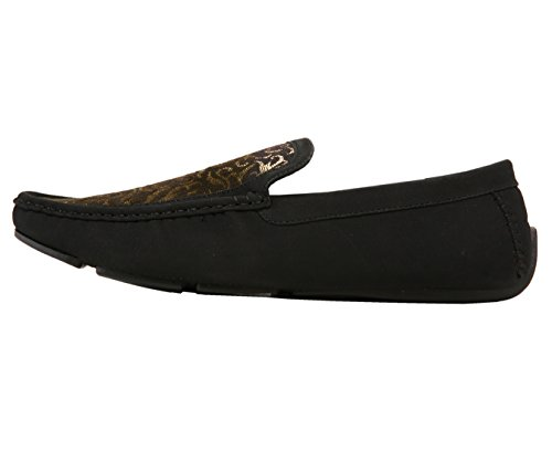 Gold Driving Paisley Comfortable Metallic Mens Brunswick Black Style Shoe Driver Dress Amali and Loafer S4KOqzyqw
