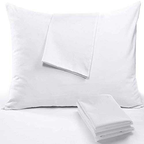 """MICROFIBER Pillow Protector  2 Pack  Standard Size  20/"""" x 26/""""   HYPOALLERGENIC"""