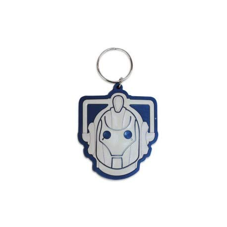 Official Doctor Who Cyberman Rubber Keyring