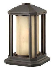 Hinkley 1397BZ Transitional One Light Pier Mount from Castelle collection in Bronze/Darkfinish, (Pier Mount Light One)