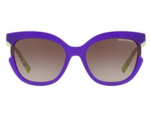 Armani Exchange AX4065S Sunglasses Opal Violet w/Brown Gradient Lens 55mm 822213 AX 4065S