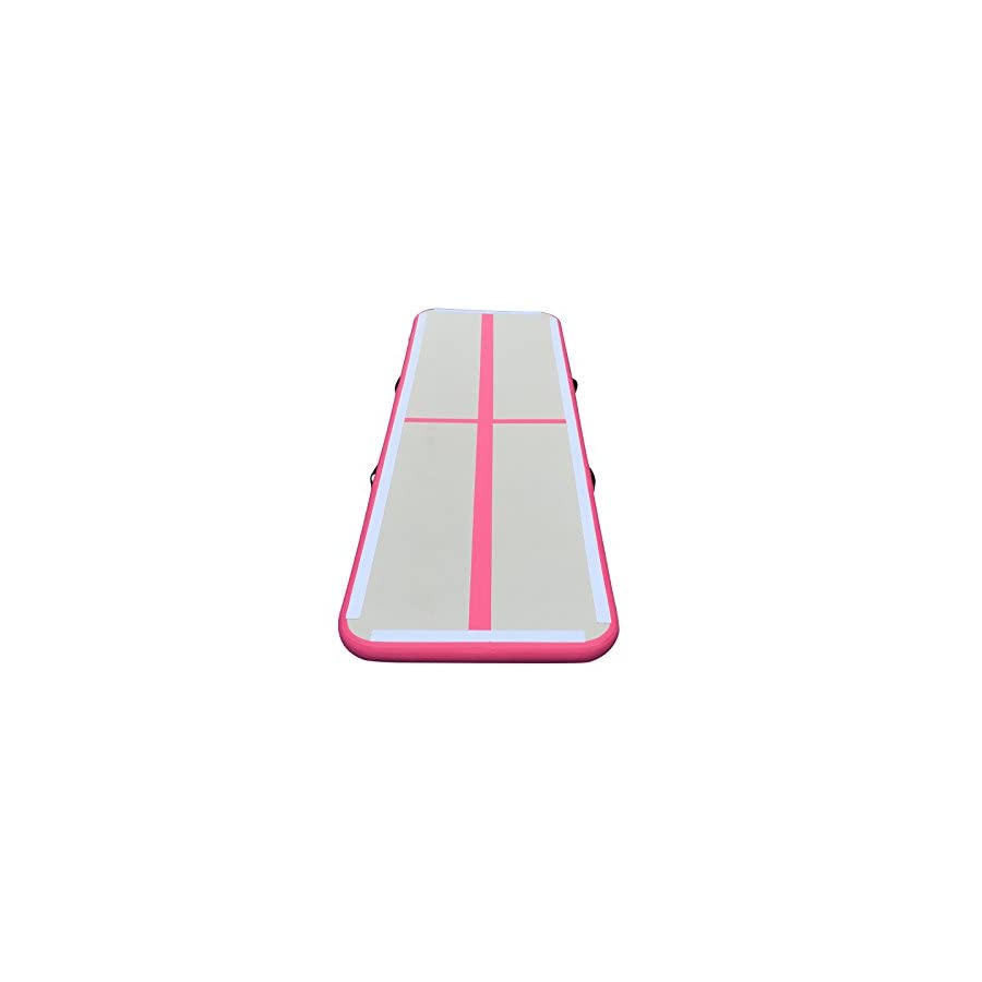 Inflatable GYM Mat Home Air Floor Inflatable Tumbling Mat for Gymnastics Inflatable Air Track (Pink)