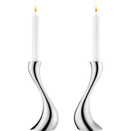 Georg Jensen COBRA Candlestick medium (2 pc.) by Georg Jensen