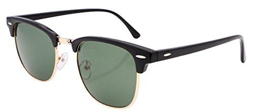 FEISEDY Vintage Half Frame Sunglasses Classic Brand G15 Lens Men Women Grasses - G15 Sunglasses