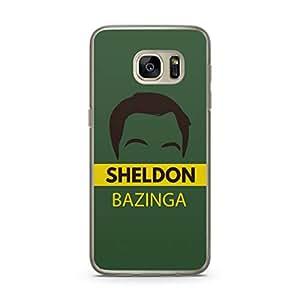 Samsung Galaxy S7 Transparent Edge Case The Big Bang Theor Sheldon Bazinga