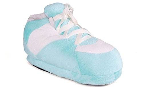 1019-1 - Turquoise and White - Small - Happy Feet Sneaker Sl