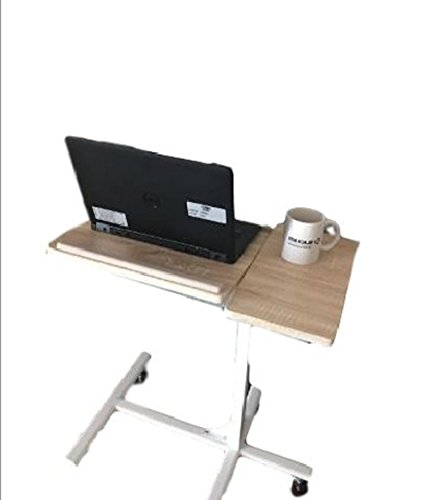Adjustable Bedside Table On Wheels Laptop Wheeled Cart Rolling Office Utility Portable Multipurpose Frame Rolling Mobile Computer Rack On Wheels Home Office Indoor Mobile Storage Furniture & E book by by STS SUPPLIES LTD