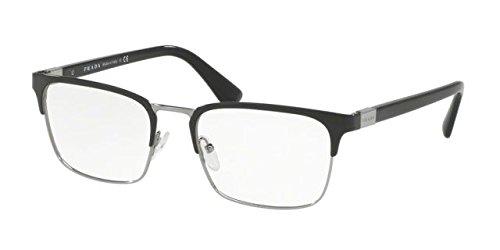 Prada Black (Prada PR54TV Eyeglass Frames 1AB1O1-55 - Black Gunmetal)