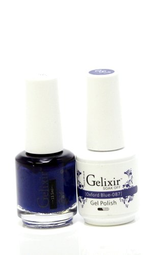 Gelixir matching color gel & nail lacquer Oxford Blue - 087