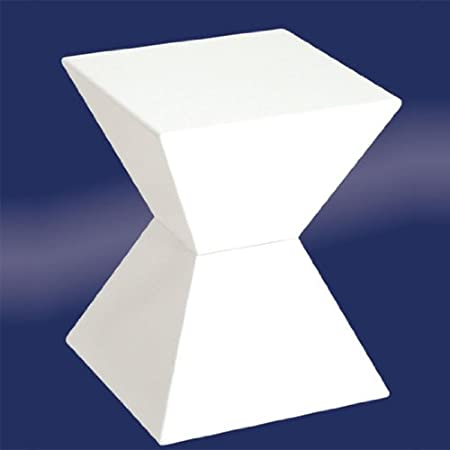 Good EDGE Funky White High Gloss Lacquered End Table