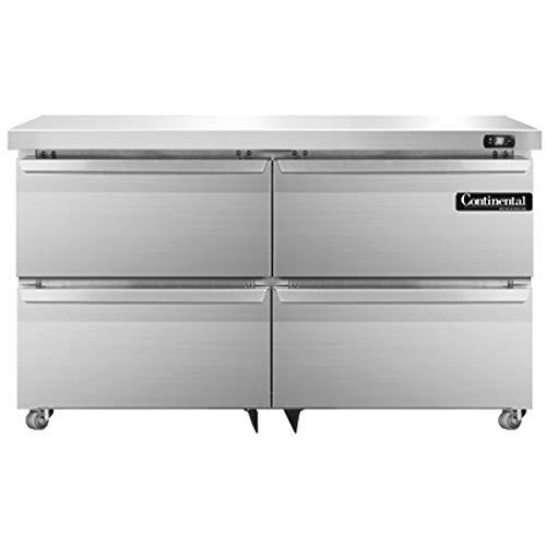 Continental Refrigerator DL48-SS-U-D Designer Line Two Section Undercounter Refrigerator, 48