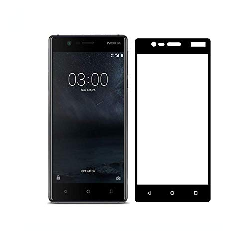 3D Full Screen Surfaces Tempered Glass Screen Protector By Ineix For Nokia  3 - Black