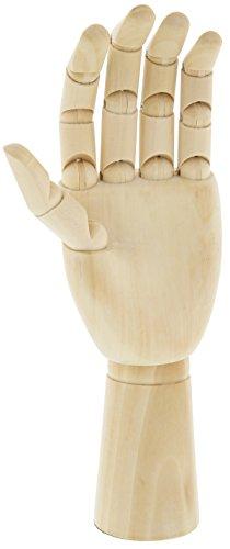 Hand Mannequin-wooden Hand Artist Manikin 11.25'' Inch Model- Left Hand
