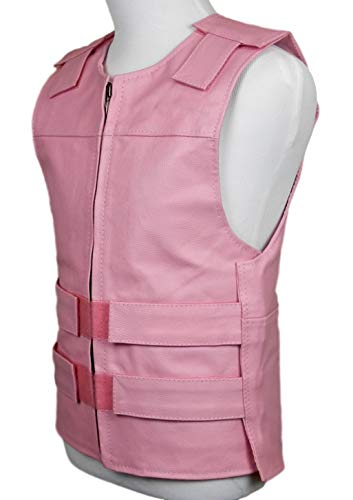 Baby Pink Leather - Bulletproof Style Motorcycle Vest -