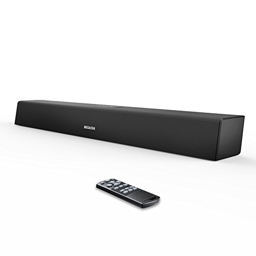 Sound Bar, MEGACRA Soundbar Wireless Wired Home Theater TV Speaker(28 Inch, 4 Speaker Drivers, 2 Bass Reflex Tubes, Bass and Treble Adjustable, Dual Connection (Tube Surround Sound)