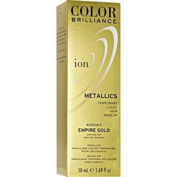 Ion Color Brilliance Metallics Temporary Liquid Hair Makeup Empire Gold DUO SET! ()