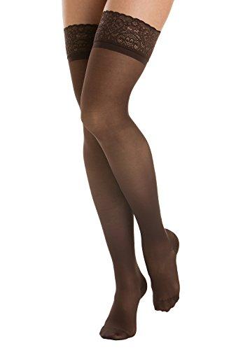 autoreggenti calze 140 Moka compressione Relaxsan elastiche Lycra graduata 870F den Prestige 3D xWqCSZa