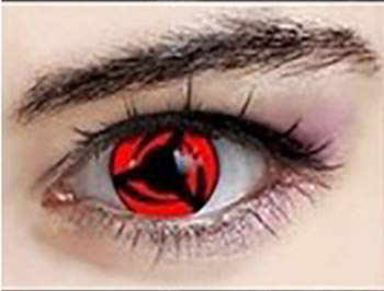 Cosplay Eyes Itachi Sharingan Contact Lenses Multi-Color Attractive Fashion Color Blends Cosmetic Makeup Eye Shadow -