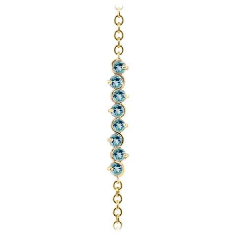 QP bijoutier topazes bleues Bracelet en or 9 carats, 1.55ct 5082Y-ronde