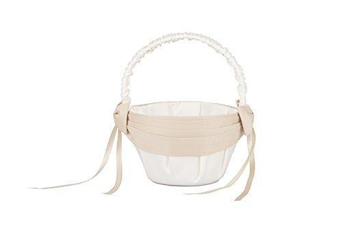 AISLE STYLE Beautiful Wedding Flower Girl Basket Champagne (Beautiful Baskets)