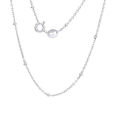 - Jewel Zone US Sterling Silver Forzatina Rollo Chain 18