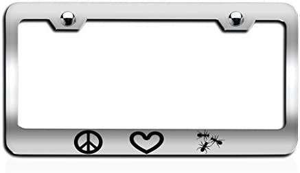 Pitbull Mom I Love My Rescue Dog Black Plastic License Plate Frame
