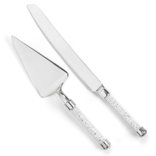 Glittering Beads Flutes (Hortense B. Hewitt Wedding Accessories Glittering Beads Cake Knife and Server Set)