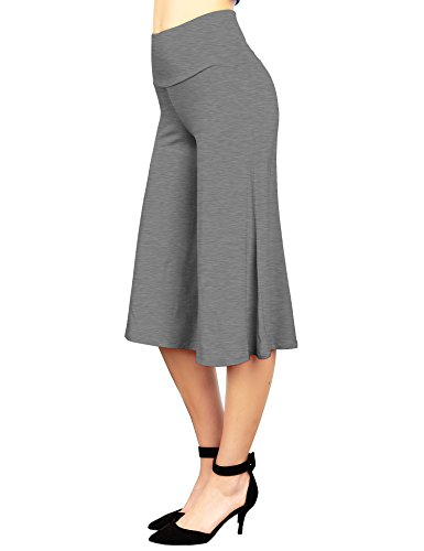 (Made By Johnny WB876 Womens Knit Culottes Pants XXXXL HDG )