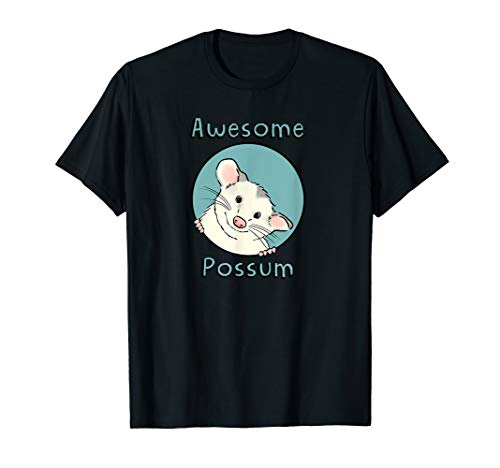 Possum White T-shirt - Awesome Possum T-Shirt, Opossum Lover Shirt, Cute Possum Tee