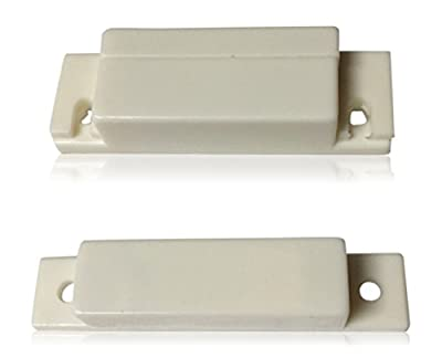 """1 pcs White Door Contacts Surface Mount NC Security Alarm Door Window Sensors.These ¾"""" Door Contact Position switches (DCS) Work with All Access Control and Burglar Alarm Systems"""