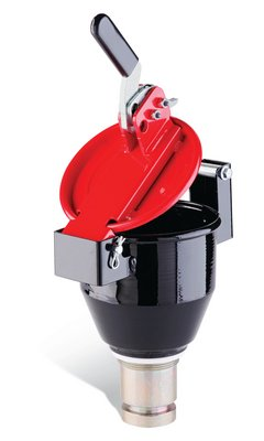 New Pig DRM1032 Burpless One-Hand-Sealable Steel Drum Funnel, 8-1/4'' Diameter x 11'' Height, Yellow, For 5 to 55 Gallon Drums and Pails with 2'' NPT