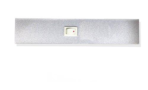 Mensola luminosa struttura in alluminio con vetro temperato satinato (21Watts)